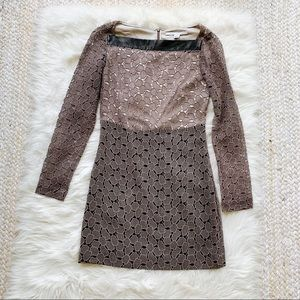 DianeVoneFurstenberg Brown Lace Dress
